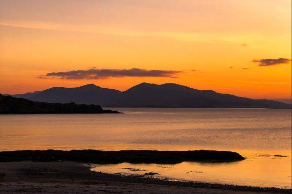 Sunset at Ganavan Sands, Oban from Woodlands Glencoe, Scotland