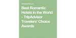 TripAdvisor Most Romantic Hotels In The World Logo 2019