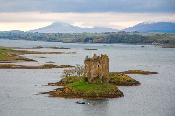 Castle Stalker in Loch Linnhe, Highlands of Scotland