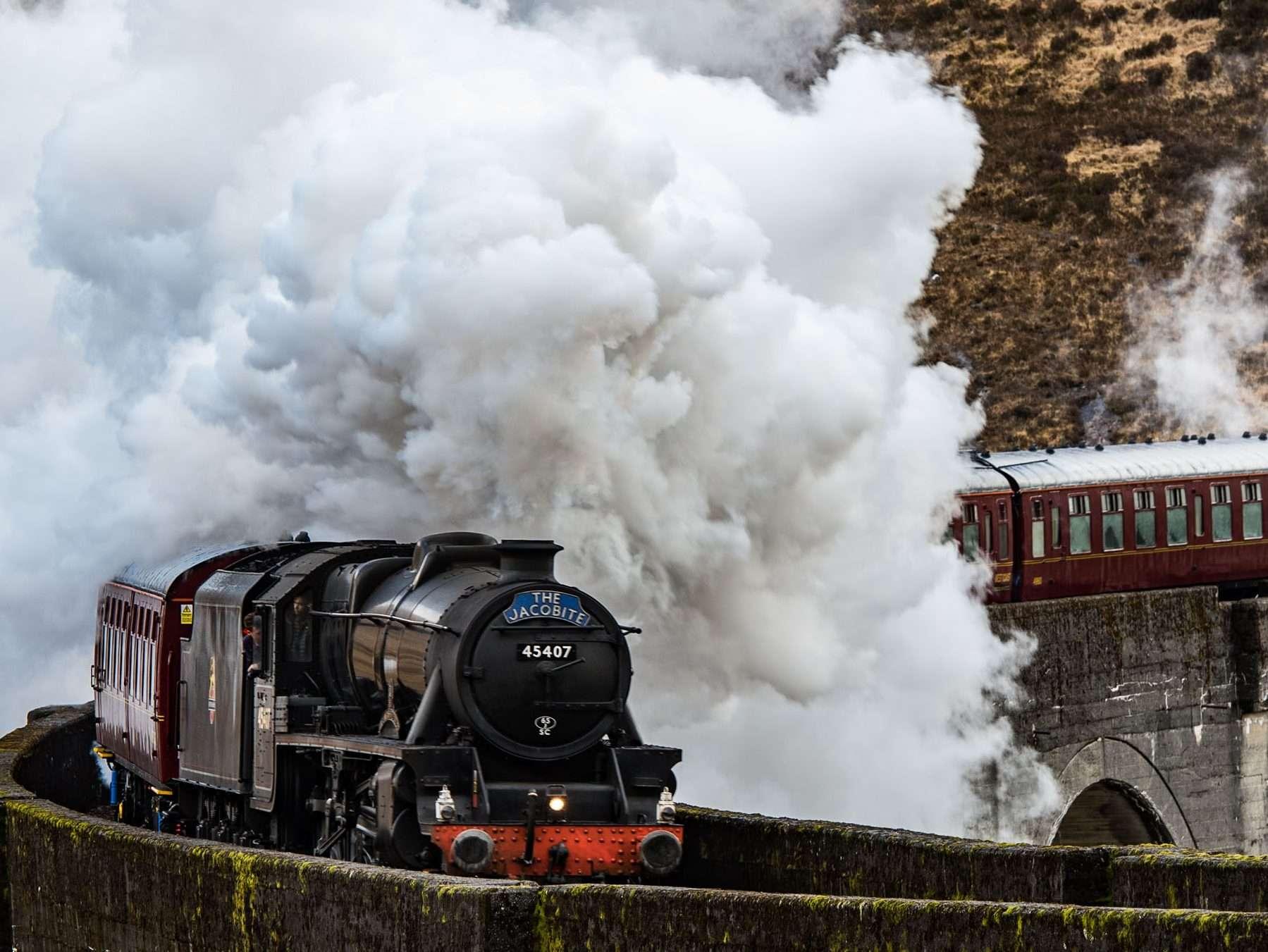 The Jacobite Steam Train Glenfinnan Scotland
